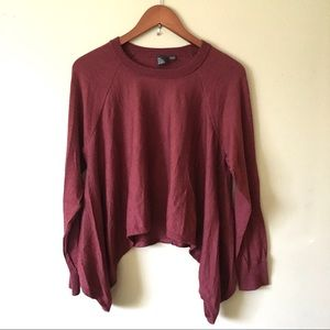 Eileen Fisher Cropped Hem 100% Merino Wool Sweater